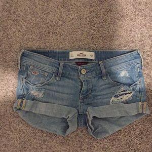 Hollister jean shorts size 0 24